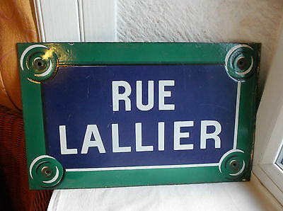 French authentic street sign awesome vintage blue green white porcelain enamel