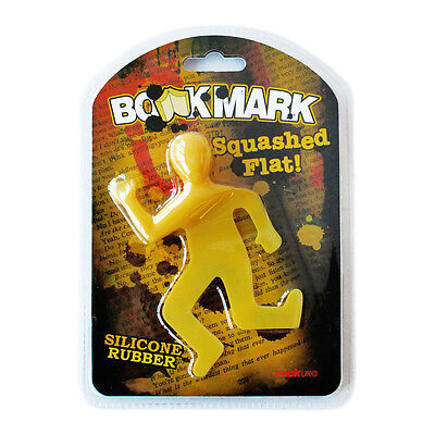 NEW Dead Mark Squashed Flat Book Mark Silicone Bookmark by SUCK UK - DEADMARK1