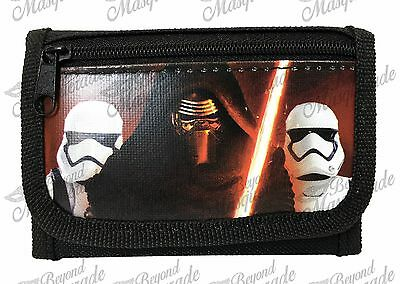 Disney Star Wars The Force Awakens Kids Tri-Fold Wallet Black Kylo Ren