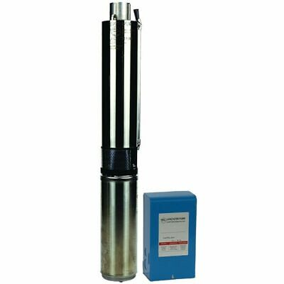 Lancaster Pump 3LSPW10007-2 - 1 HP 22 GPM Deep Well Submersible Pump w/ SS Di...