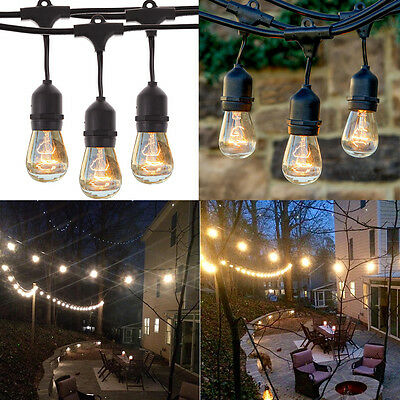37ft 9 LED E27/E26 Outdoor Patio Globe String Lights Socket Base Wire String