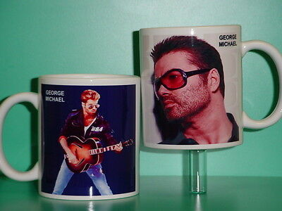 GEORGE MICHAEL - with 2 Photos - Designer Collectible GIFT Mug
