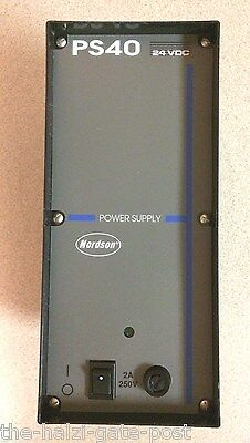 NEW Nordson 131739H, 131739 Power Supply 24 VDC Model PS40, 2.5A, 120/240 VAC