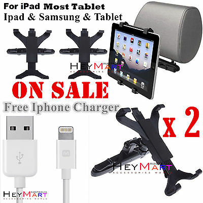 2 x sets Car Seat Back Headrest Mount Holder TABLET Fit Most Ipad Samsung Holder