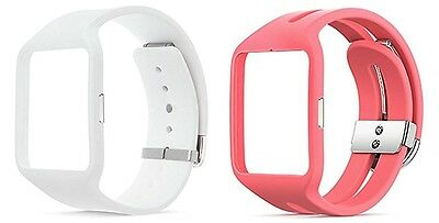 Sony Wrist Strap for Smartwatch 3 SWR510 White Pink 2 colors New Japan