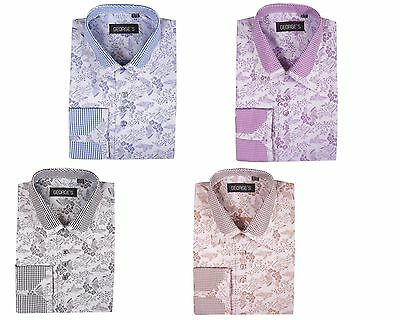Men's Dress Shirt  60% Cotton 40% Polyester Fashion Design by George AH622
