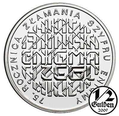 POLAND 10 Zlotych 2007 Breaking Enigma Codes Proof Coin