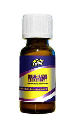 Gold plating solution Flash (20 ml) - For stainless steel and chrome