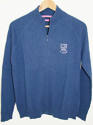 Ladies Peter Millar Cashmere Full Zip Sweaters with St Andrews Old Course Logo