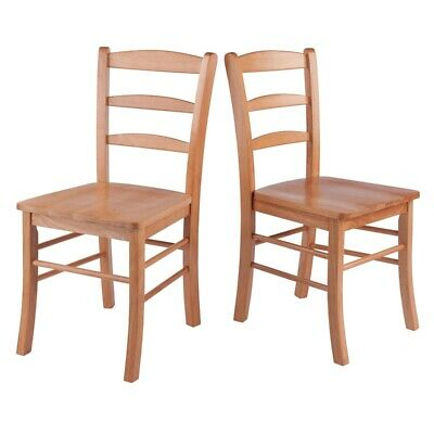 Winsome Hannah  Dining Chair in Light Oak Finish (Set of 2)