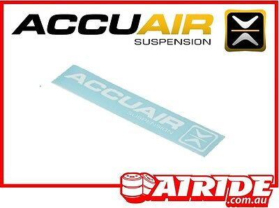 Accuair White Sticker Airide Air Ride Suspension
