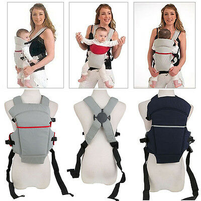 Front & Back Baby Newborn Carrier Infant Comfort Backpack Sling Wrap Cotton NEW