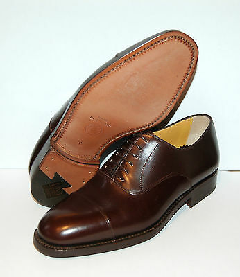 Man-Oxford Captoe-Brown Calf-Vitello-Double Lth Sole/suola Cuoio+Blake/rpd