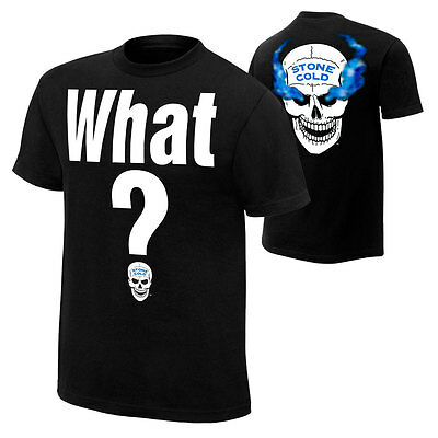 """Official WWE - Stone Cold Steve Austin """"What?"""" Retro T-Shirt"""