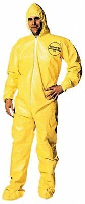 Dupont X-Large Yellow Tychem QC Chemical Protection Coveralls