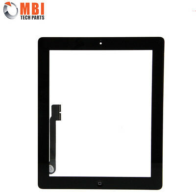 iPad 4 Digitizer Screen Glass Touch Digitizer with Home Button & Adhesive Black
