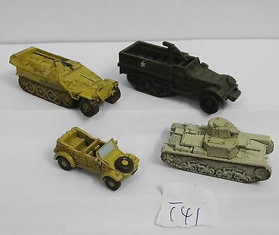 lot OF 4 Axis& Allies Wizards of the Coast tank North Africa  T41