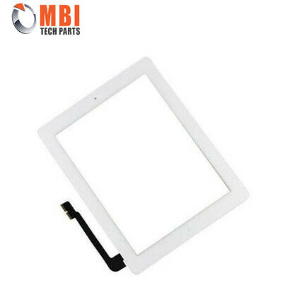 iPad 4 Digitizer Screen Glass Touch Digitizer with Home Button & Adhesive White