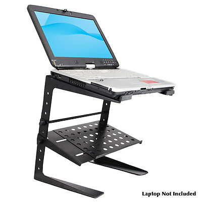 PylePro Laptop Computer Stand For DJ W/Storage Shelf