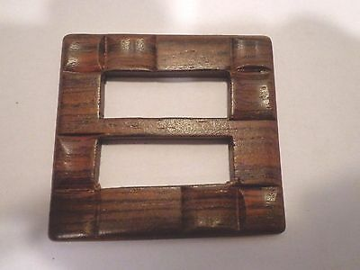Finished Wood Buckle slides Art Deco Lot of 5 Sewing Crafts