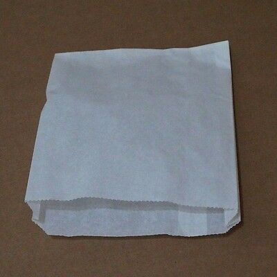 "6.5""x1""x8"" White Grease Resistant Dry Wax Paper Sandwich Bags"