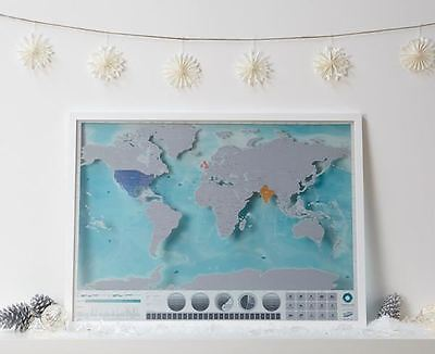 Scratch Map Oceans Edition Poster Luckies Personal Travel Log Gift By Luckies