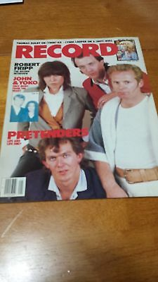Pretenders Record Magazine From May 1984