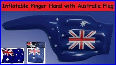 AUSSIE Flag FINGER Pointing HAND Australia Day Inflatable Beach Pool Sports Toy