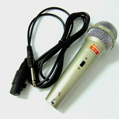 2pcs Pro Wired Dynamic Vocal Microphone Karaoke Mic DM-401