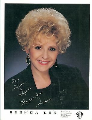 Brenda Lee autographed  8 x 10 color publicity photo hand signed autograph