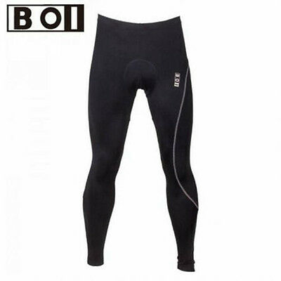 Men's Bike Bicycle Pants Cycling Riding Padded Tights Outdoor Sports Black