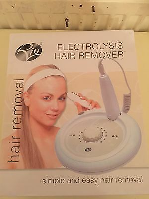 Rio Home Electrolysis Tweezer Permanent Hair Removal System for Body & Face New