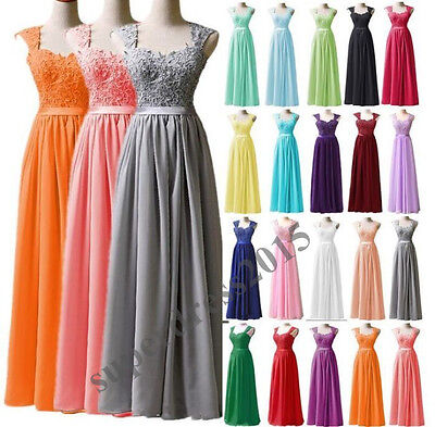 New Long Chiffon Formal Party Evening Gown Prom Wedding Ball Bridesmaid Dress