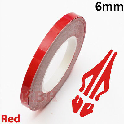 """6mm x 9.8m Pinstriping Solid Pin Stripe Tape Vinyl Decal Sticker Car 1/4"""" Red"""