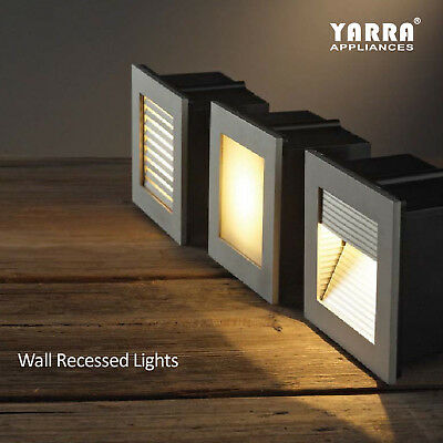 3*led Step Light 1W Indoor Stair Wall Fixture Warm White