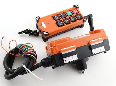 Transmitter&Receiver Hoist Crane Radio Industrial Wireless Remote Control F21E1B