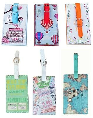 Floral Travel Luggage Tag Suitcase Label Address Id Holiday Tags