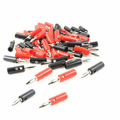 5pcs Black&Red Set 4mm Iron Pin Banana Plug Speaker Screw Wire Cable Connector