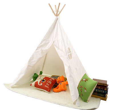 Children Kids Tepee Teepee Tipi Play Tent Playhouse indoor/outdoor Wooden Tent