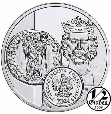 POLAND 20 Zlotych 2015 Florin of Ladislas Elbow Silver Proof Coin polish Mint