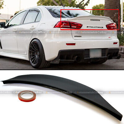 For 08-15 Lancer EVO X 10 Primer Ready RS Style Rear Duck Trunk Wing Lip Spoiler