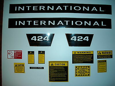 IH Case International tractor 424 decal set with caution kit