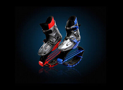 red blue kangoo Jump Jumping Shoes Unisex Fitness Jumps Bounce Shoes 2 color