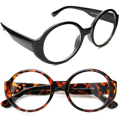 50's Round Oval Clear Lens Eyeglasses Vintage Retro Thick Frame Women Glasses