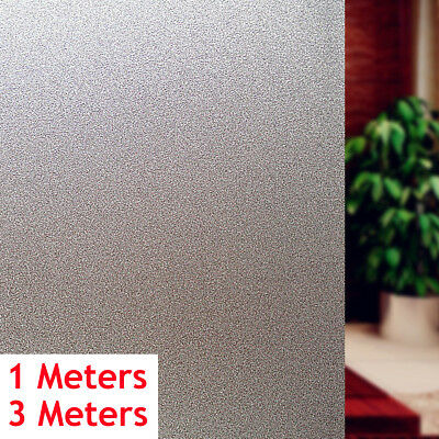 1m/3m PVC Frosted Privacy Frost Home Bedroom Bathroom Glass Window Film Sticker