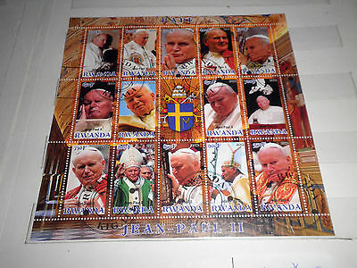 "Rwanda 2012 ""pope John Paul Ii"" Used Block (Cat.z)"