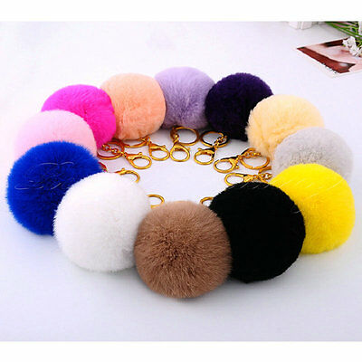 Luxury Soft Rabbit Fur Hairball Hanging Pendant DIY for Phone Case Cover Key Bag
