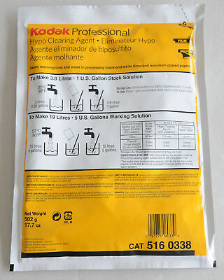 Kodak Hypo Clearing Agent - Washing Aid for Black & White Film & Paper