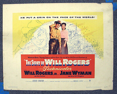 Story Of Will Rogers '52 Wyman Curtiz Bioography Rolled Half Sheet