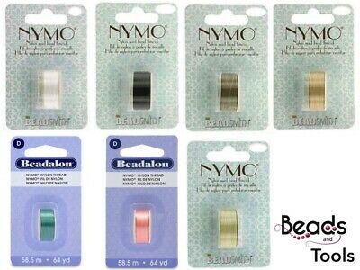 Beadalon Nymo Thread (Size D) variety of different colours available
